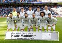 La squadra del Real Madrid