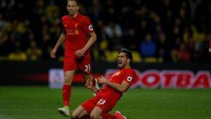 Emre Can Watford-Liverpool