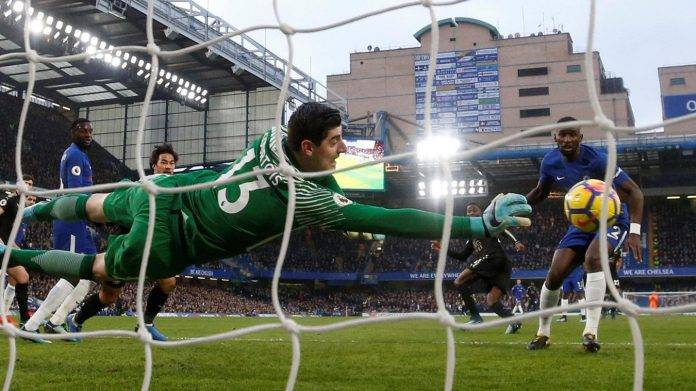 Courtois Chelsea-Leicester City