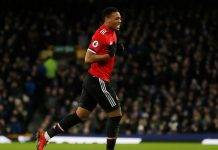 Anthony Martial Everton-Manchester United