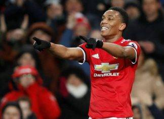 Anthony Martial Manchester United-Stoke City