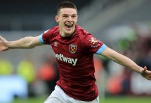 Declan Rice West Ham-Arsenal