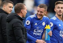 Vardy Rodgers Leicester City-Arsenal